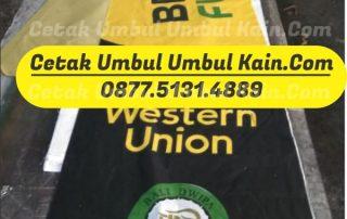 Cetak Umbulumbul Kain Bank BPD Bali